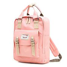 Lb Рюкзак  SM-04 Light Pink школьный унисекс повседневный с USB для зарядки