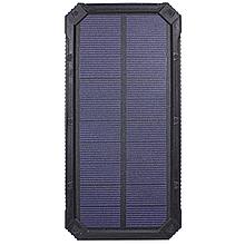 Зовнішній акумулятор Solar 20000 mAh захищений корпус Led ліхтарик для зарядки смартфона планшета