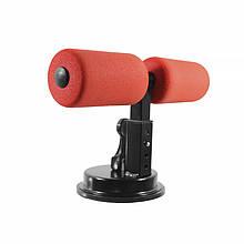 Тренажер-тримач для преса підлоговий MJ-034 Red на присосках домашній
