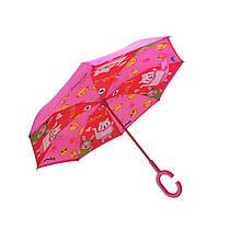 Дитячий парасольку парасольку-навпаки Up-Brella Lucky Cat-Rose Red зворотного складання