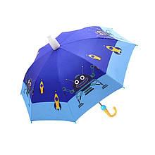 Дитячий парасольку парасольку QY2011301 Robot (робот) тростина автоматичний з пластиковим чохлом