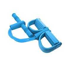Універсальний еспандер Lianjia Blue 4 трубки многофункционаоьный для преса і рук