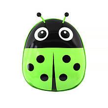 Дитячий рюкзак рюкзачок з твердим корпусом Ladybug 229 Green для прогулянок садка