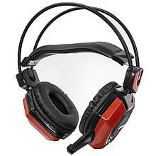 Lb Проводная гарнитура JEQANG JH-2015 Black + Red для геймеров с микрофоном накладные наушники