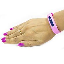 Lb Силиконовый браслет от комаров  Anti Mosquito Band Pink отпугиватель насекомых
