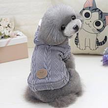 Стильна кофта для собак з капюшоном Dog Baby EST.1978 Grey S