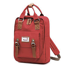 Lb Рюкзак  SM-04 Red школьный унисекс повседневный с USB для зарядки