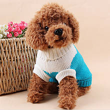 Теплий светр для собак Taotaopets 675501 Blue XXL домашніх тварин