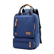 Lb Школьный рюкзак Taoleqi 608 Dark Blue компьютерные для школьников студентов молодежный