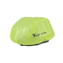 Світловідбиваючий чохол West Biking 0708081 Green для велосипедного шолома