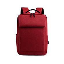 Lb Рюкзак городской  DX-0264 Red с USB сумка для ноутбука учебы тканевая повседневная