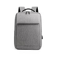 Lb Рюкзак городской  DX-0264 Light Gray с USB сумка для ноутбука учебы тканевая повседневная