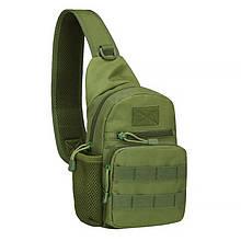 Lb Рюкзак тактический на одно плечо AOKALI Outdoor A14 Green военный 2L