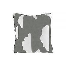 Компактна дитяча бавовняна подушка AYBB-002 Квадрат у хмарка 30*30см в ліжечко новонародженим