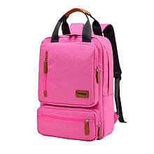 Lb Школьный рюкзак Taoleqi 608 Pink компьютерные для школьников студентов молодежный