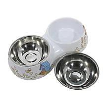 Миска поїлка годівниця для котів і собак Taotaopets WZ-1212 подвійна 30*16*6 Мікс