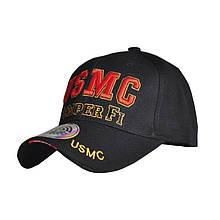 Бейсболка кепка Han-Wild USMC Black чоловіча з вишивкою спортивна чоловіча