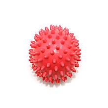 М'яч для масажу c шипами Dobetters PVC P2 7.5 см Red шипований м'ячик