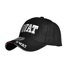 Бейсболка Han-Wild SWAT Black чорна з білим тактична кепка