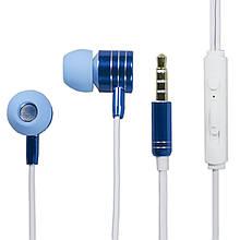 Lb Гарнитура LANGSDOM I-7 Синяя вакуумная с глубоким басом jack 3.5
