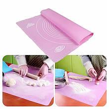 Lb Силиконовый коврик  Silicone Mat 001 Pink 50x40 для раскатки теста выпекания в духовке
