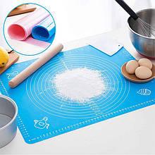 Lb Силиконовый коврик  Silicone Mat 001 Blue 50x40 для раскатки теста выпекания в духовке