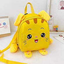 Дитячий рюкзак рюкзачок 201028 Animals Yellow з ремінцем анти-потеряшкой