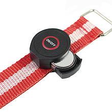 Світлодіодний LED браслет безпеки HY-0907 Red для бігу і велоспорту в темряві підсвічування