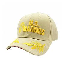 Бейсболка кепка Han-Wild U. S. Marines Khaki тактична з вишивкою армійська