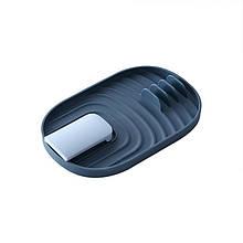 Кухонні підставка зручний органайзер для різного начиння А968-01 Blue під кришки ложки лопатки