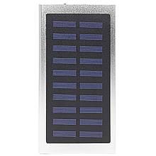Повер банк Solar Water Cube Silver 20000 mAh портативний акумулятор з сонячною батареєю USB роз'єм