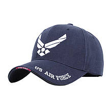 Бейсболка Han-Wild US Air Force Blue з білою вишивкою бейсбольна кепка