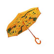 Дитячий парасольку парасольку-навпаки Up-Brella Dinosaur World-Orange (динозавр) зворотного складання