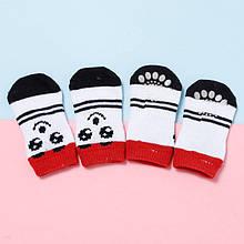 Антиковзні шкарпетки для собак Taotaopets 331 Смайл M бавовняні