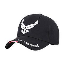 Бейсболка Han-Wild US Air Force Black з білою вишивкою бейсбольна кепка