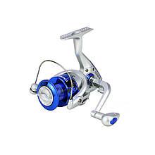 Lb Катушка безынерционная рыболовная Yumoshi SA Silver-Blue размер 6000 для рыбалки спиннинга