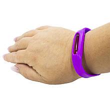 Lb Силиконовый браслет от комаров  Anti Mosquito Band Purple отпугиватель насекомых