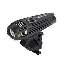 Велосипедна фара West Biking 0701263 Black + Silver металева велофара LED ліхтар для велосипеда