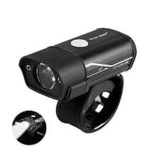 Велосипедна фара West Biking 0701181 Black металева велофара LED ліхтар для велосипеда