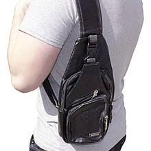 Lb Рюкзак через плечо Haodier Jeep Black USB-сумка зарядка спортивная мужская повседневная