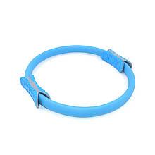 Еспандер кільце для фітнесу і пілатесу Dobetters M1 Blue діаметр 38 см тренажер для рук і ніг стегон