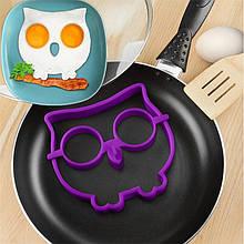 Силіконова форма для смаження яєць CUMENSS Сова Purple