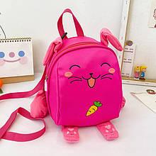 Дитячий рюкзак рюкзачок 201028 Animals Pink з ремінцем анти-потеряшкой