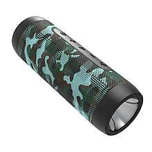 Бездротова колонка ZEALOT S22 Camouflage з блютуз портативна захист IP65 з ліхтариком функція Повер банк