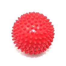 М'яч для масажу c шипами Dobetters PVC 9 см Red шипований м'ячик