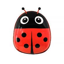 Дитячий рюкзак рюкзачок з твердим корпусом Ladybug 229 Red для прогулянок садка