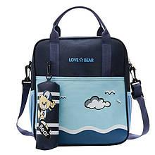 Дитячий сумка-рюкзак рюкзачок Love Bear 6327 Blue для школи саду підручників