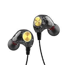 Lb Проводная прозрачная гарнитура FONGE K1 Black спортивные наушники jack 3.5 мм спортивная