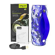 Колонка ZEALOT S29 Dark blue Camouflage Bluetooth 5Wx2 ліхтарик, FM-радіо, micro SD карта портативна