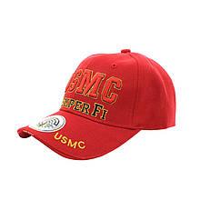 Бейсболка кепка Han-Wild USMC Red чоловіча з вишивкою спортивна чоловіча